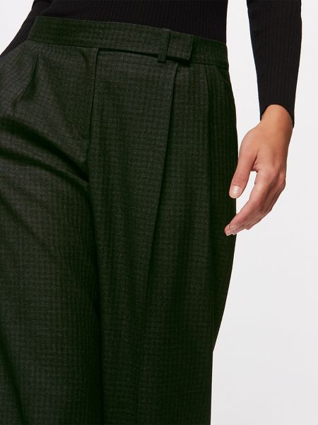 Jigsaw Wool Gingham Slouch Trouser