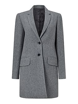 Herringbone Wool City Coat