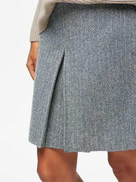 Jigsaw Herringbone Pleat Front Mini