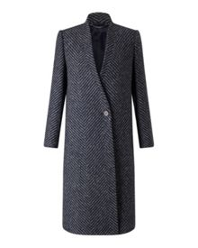 Jigsaw Herringbone Column Coat