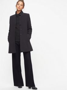 Jigsaw Herringbone Funnel Neck Coat