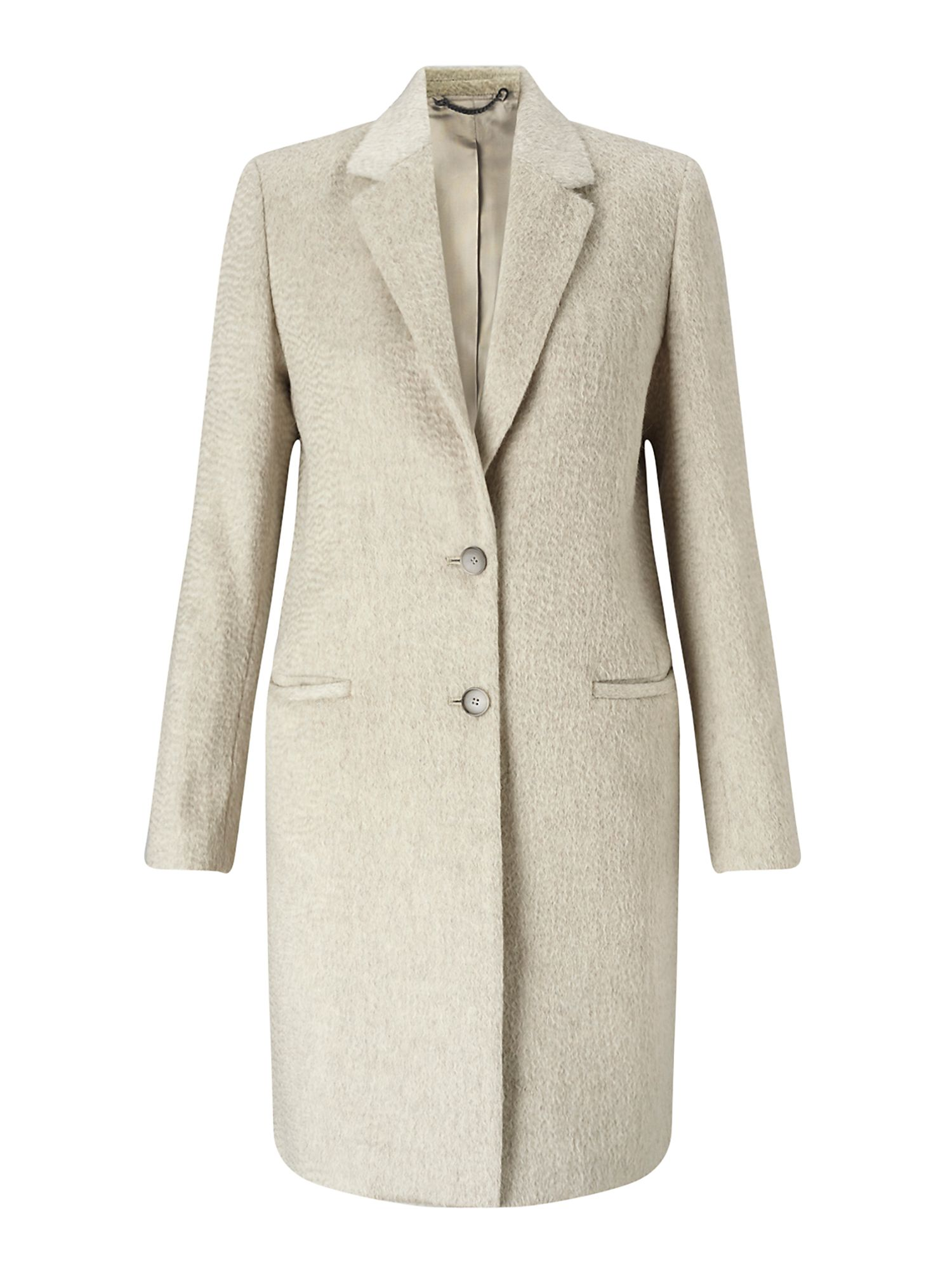Jigsaw Sb City Wool Coat, Cream