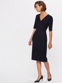 Jigsaw Wool Flannel Tailored Dress