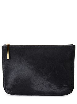 Alana large textured pouch