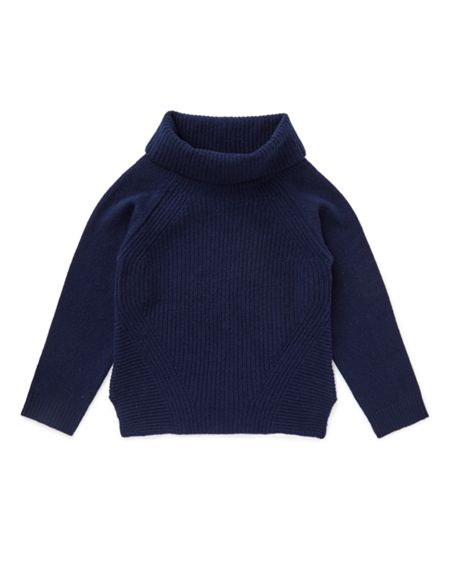 Jigsaw Girls Ribbed Front Cowl Neck Sweater