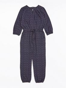 Jigsaw Girls Folk Print Jersey Jumpsuit