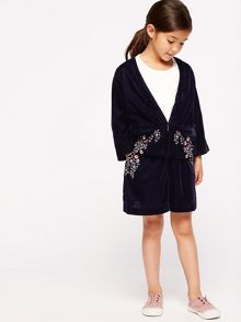 Jigsaw Embroidered Velvet Jacket