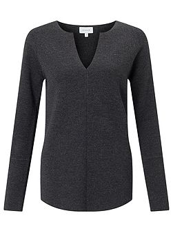 Merino Slit Neck Jumper