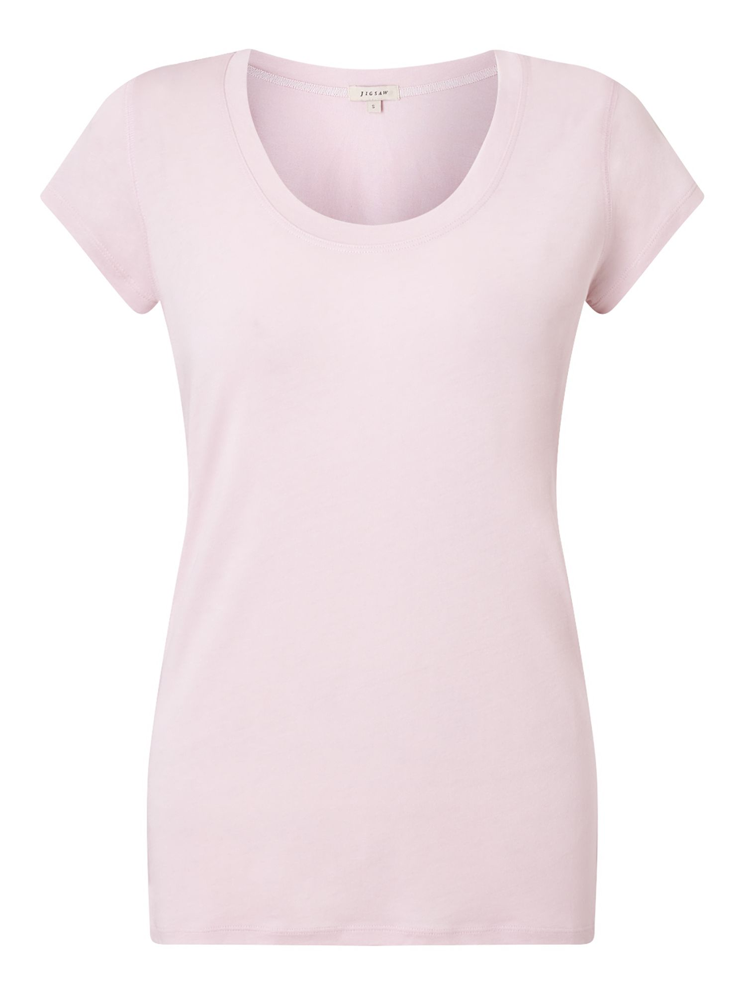 Jigsaw Pima Cotton Sslv Tee, Rose