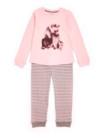 Jigsaw Girls Bear Placement Jersey Pyjama Set