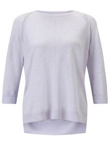 Jigsaw Cotton Slub 3/4 Sleeve Sweater