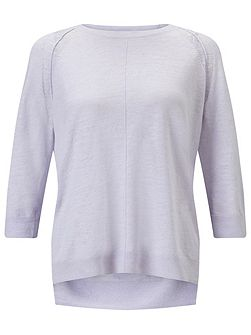 Cotton Slub 3/4 Sleeve Sweater