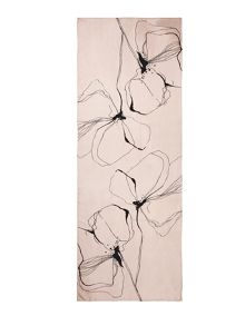 Jigsaw Linear flower silk print scarf