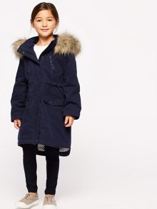 Jigsaw Girls Star Luxe Parka