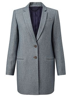 Compact Wool Twill Jacket