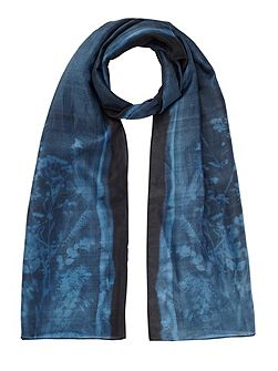 Floral exposure silk scarf
