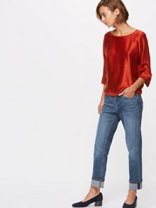 Jigsaw Silk Satin Batwing Top
