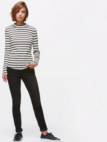 Jigsaw Stripe Rib Turtle Neck