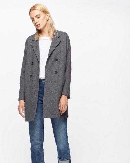 Jigsaw Raw Edge Jersey Coat