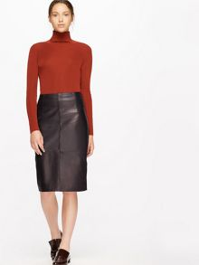Jigsaw Leather High Waisted Pencil