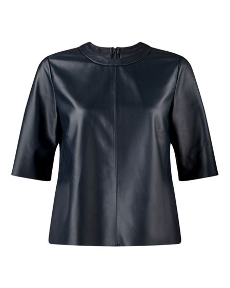 Jigsaw Leather Shell Top
