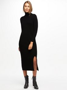 Jigsaw Polo Neck Long Knit Dress