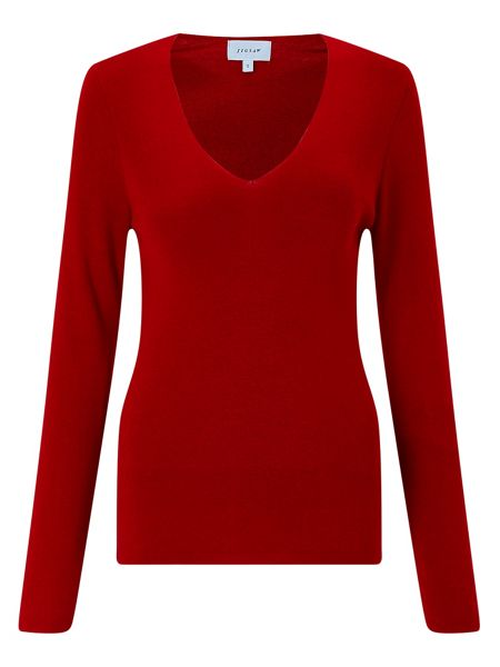Jigsaw Silk Cotton V Neck Sweater