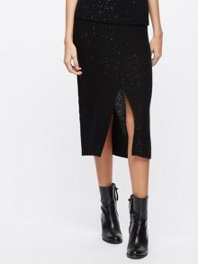Jigsaw Sparkle Knitted Slit Skirt