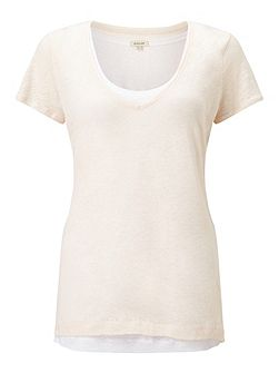 Double Layer Linen Tee