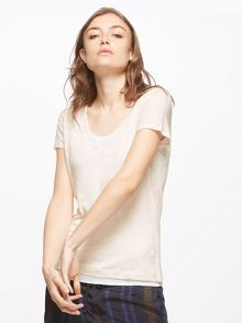 Jigsaw Double Layer Linen Tee