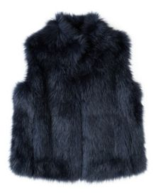 Jigsaw Fluffy Faux Fur Gilet