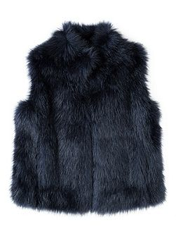 Girls Fluffy Faux Fur Gilet