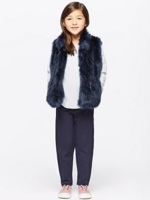 Jigsaw Girls Fluffy Faux Fur Gilet