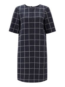 Jigsaw Wool Window Pane Tunic Dress