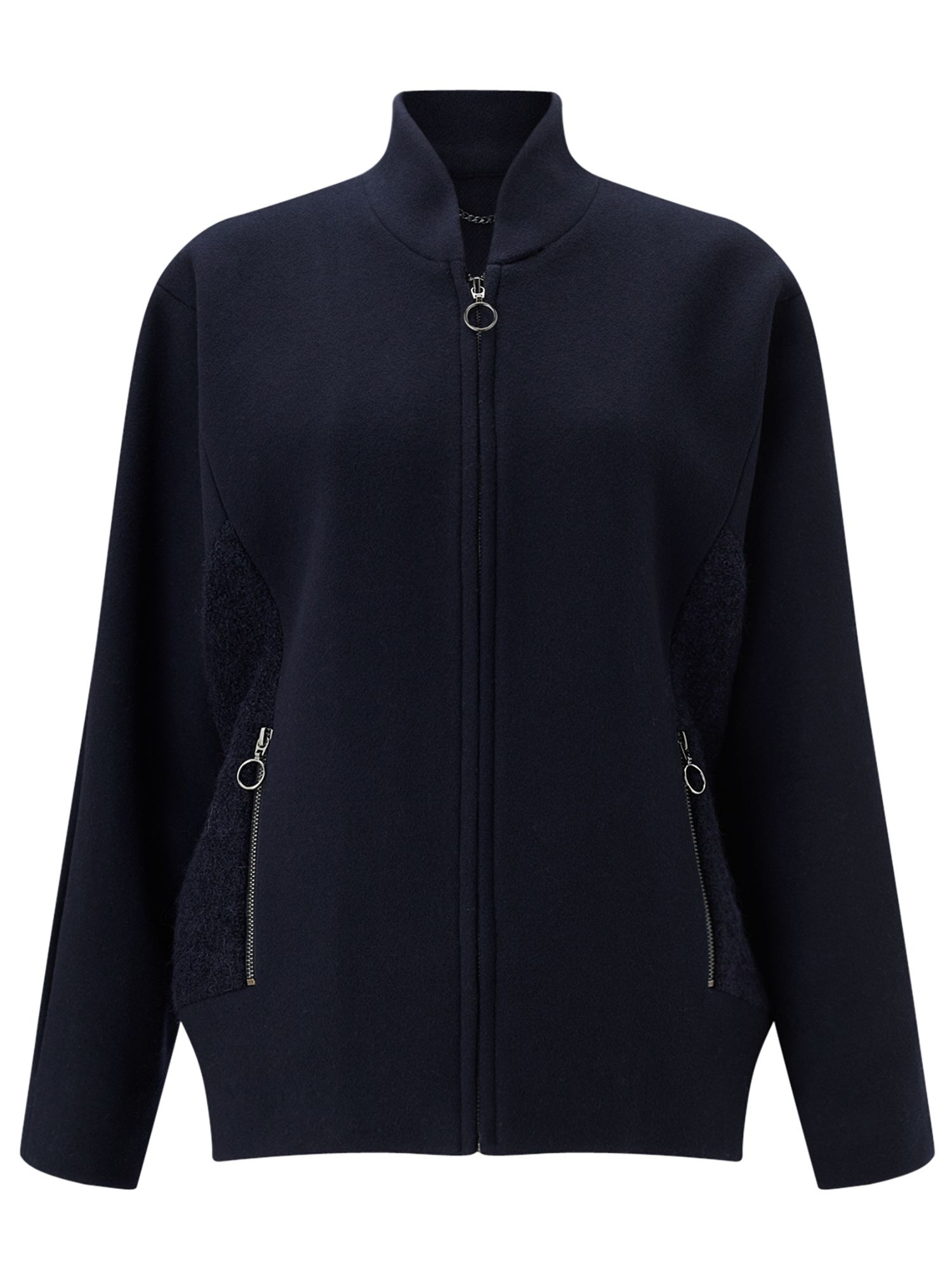 Jigsaw Lux Wool Bomber, Blue