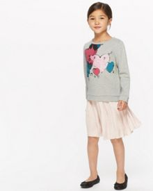 Jigsaw Girls Heart Print Sweatshirt