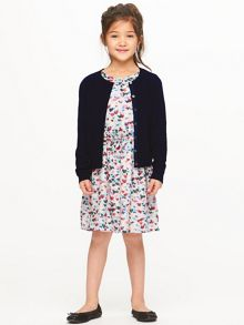 Jigsaw Girls Fine Rib Detail Cardigan