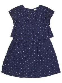 Jigsaw Girls Spot Layer Party Dress