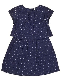 Girls Spot Layer Party Dress