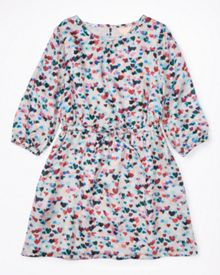 Jigsaw Girls Scattered Heart Print Dress