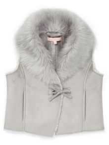 Jigsaw Girls Faux Sheepskin Gilet