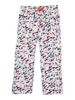 Girls Scattered Heart Print Trousers