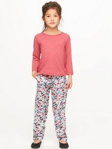 Jigsaw Girls Scattered Heart Print Trousers