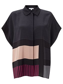 Block Stripe Blouse