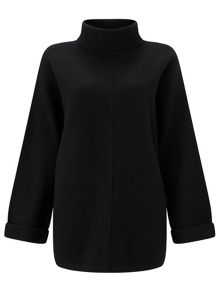 Jigsaw Boiled Wool Zip Jumper