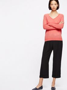Jigsaw Wafer Cashmere V Neck Jumper