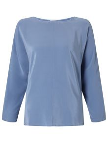 Jigsaw Silk Front Dolman Sleeve Top
