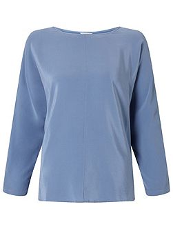 Silk Front Dolman Sleeve Top