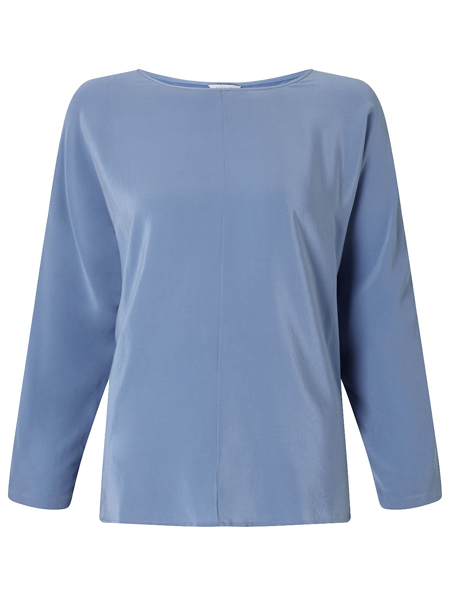 Jigsaw Silk Front Dolman Sleeve Top, Blue