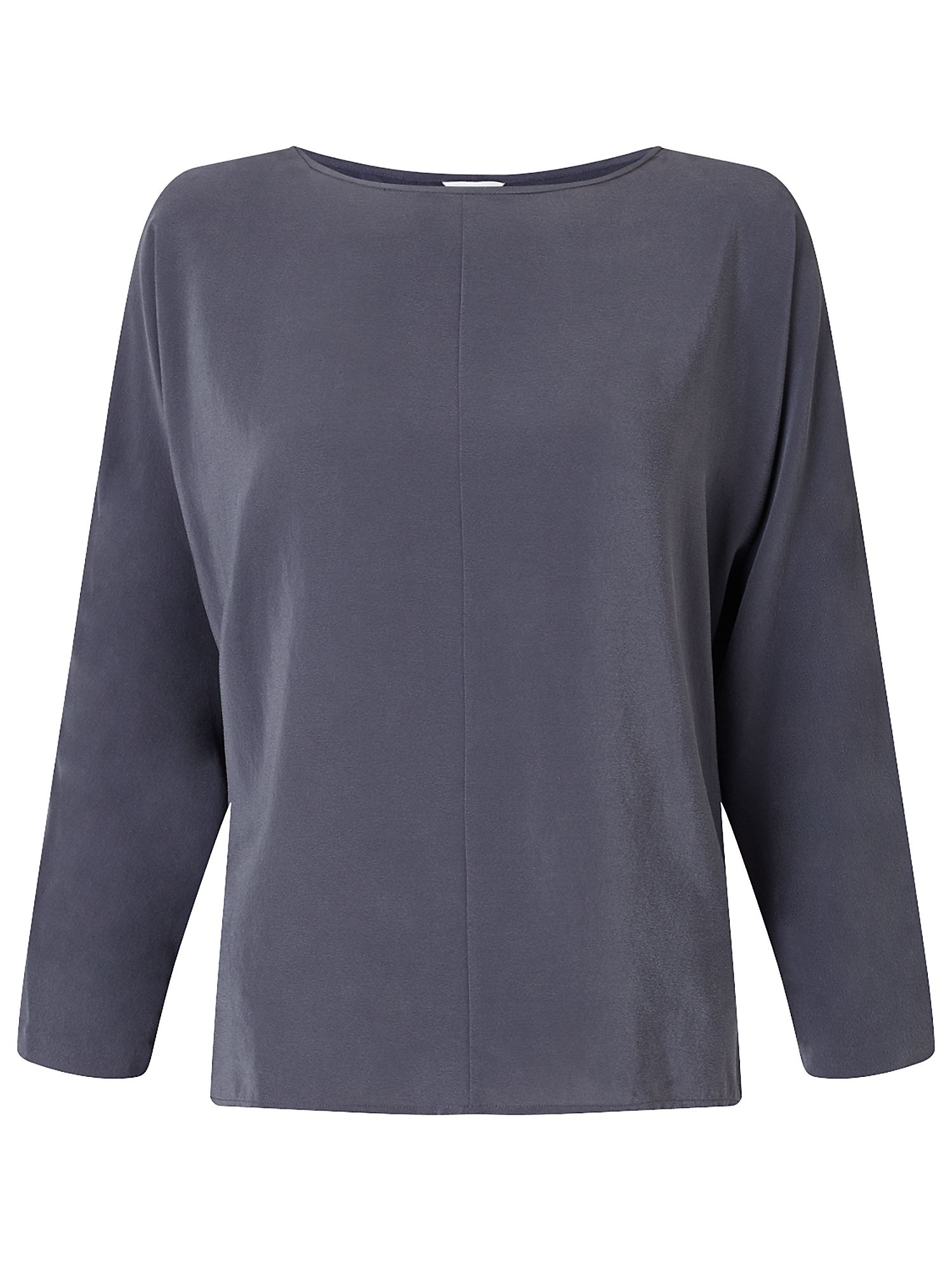Jigsaw Silk Front Dolman Sleeve Top, Grey